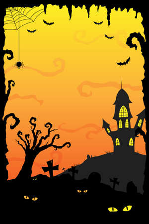 A illustration of Halloween holiday background