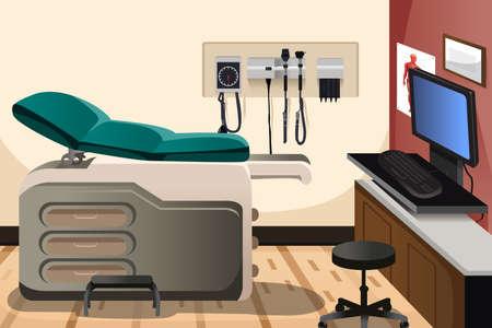 Illustration pour A vector illustration of doctor office with copyspace - image libre de droit
