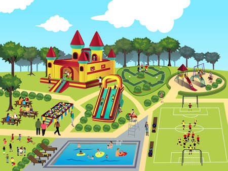 Illustration for illustration of playground map - Royalty Free Image