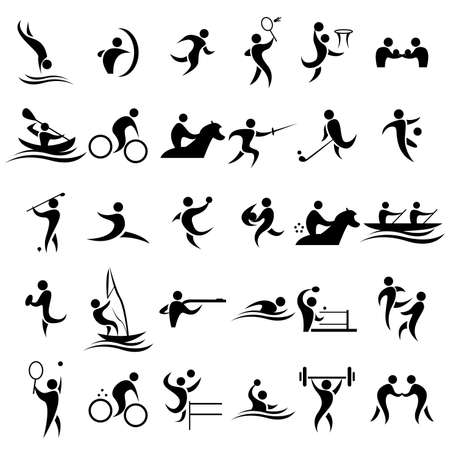 A vector illustration of sport icons sets