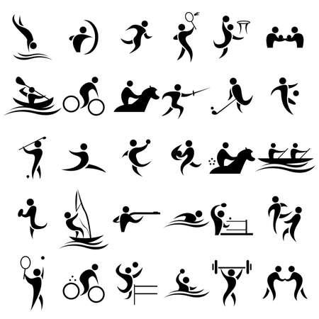 Ilustración de A vector illustration of sport icons sets - Imagen libre de derechos