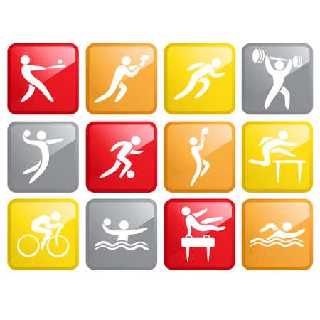 Ilustración de A vector illustration of Sport Competition Icons - Imagen libre de derechos