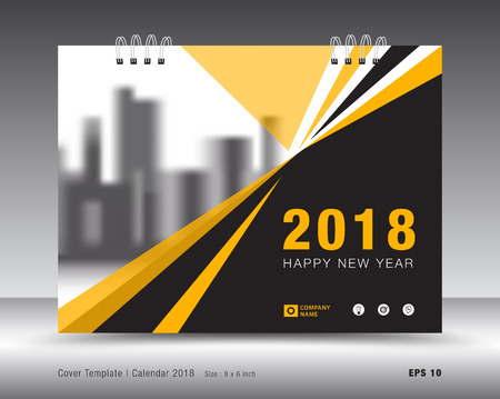 Illustration for Cover calendar 2018 template design - Royalty Free Image