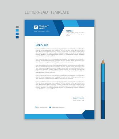 Illustration pour Letterhead template vector, minimalist style, printing design, business advertisement layout - image libre de droit