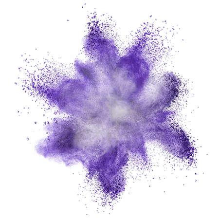 Photo for White powder explosion isolated on black background - Royalty Free Image