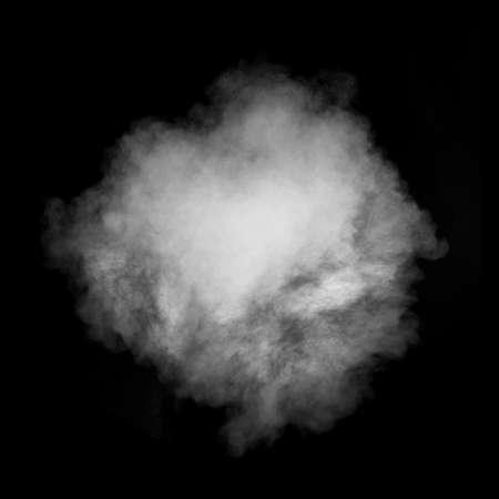 Photo for White smoke isolated on black background - Royalty Free Image