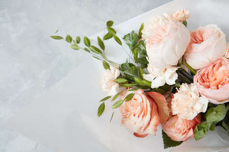Foto de Roses on white background - Imagen libre de derechos