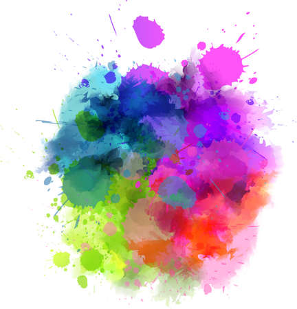 Ilustración de Multicolored watercolor splash blot - Imagen libre de derechos