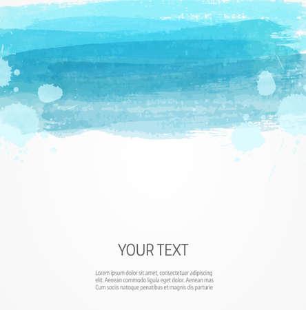 Illustration pour Background template with watercolor imitation lines - image libre de droit