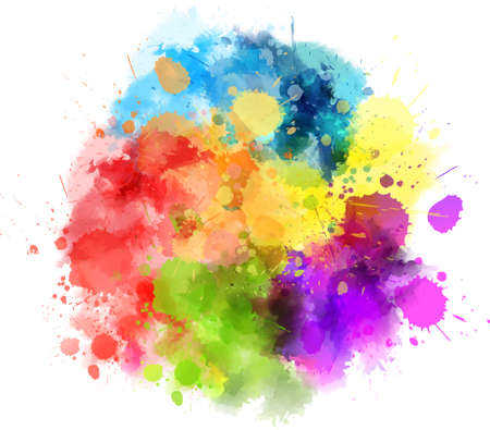 Illustration for Multicolored watercolor splash blot - Royalty Free Image