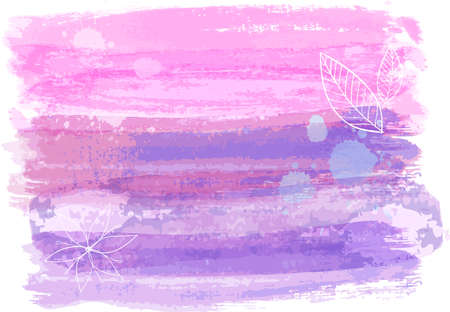 Illustration for Abstract watercolor paint brushed background in pink and purple color. - Royalty Free Image