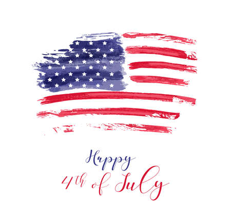 Illustration pour USA Independence day background. Happy 4th of July. - image libre de droit