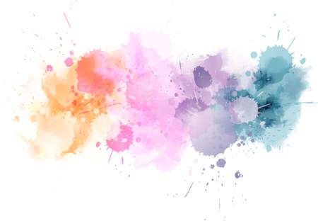 Ilustración de Watercolor imitation line in light colors. Vector illustration - Imagen libre de derechos