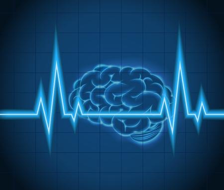 Ilustración de Processes brain of waves the concept idea creative - Imagen libre de derechos