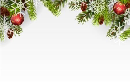 Photo for Christmas ball and Christmas tree - Royalty Free Image