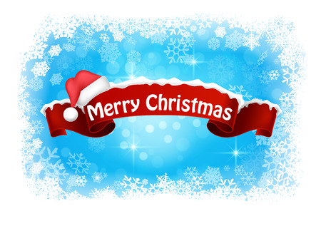 Merry christmas abstract background banner