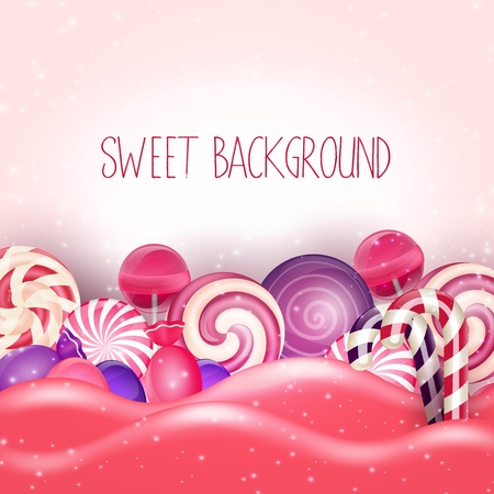 Illustration for Candy of pink land background - Royalty Free Image