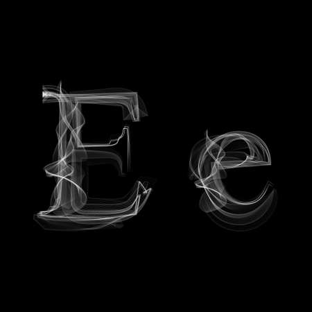 Ilustración de Smoke font. Letter E illustration alphabet - Imagen libre de derechos