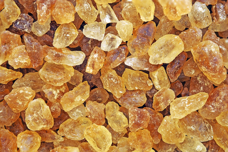 Photo for close up brown rock sugar crystal for background texture - Royalty Free Image