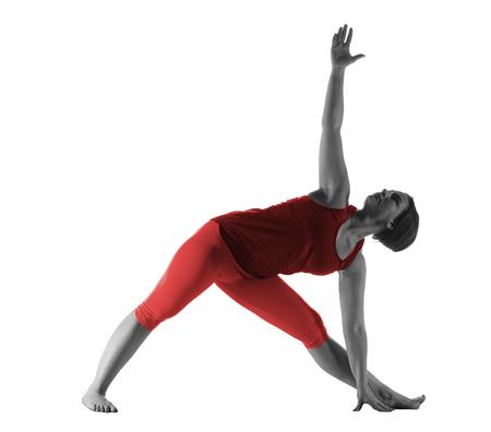 Photo pour Woman making yoga exercise - image libre de droit