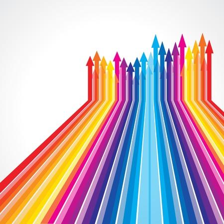 Illustration pour Colored arrows vector - image libre de droit