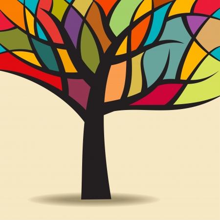 Ilustración de autumn abstract tree - Imagen libre de derechos