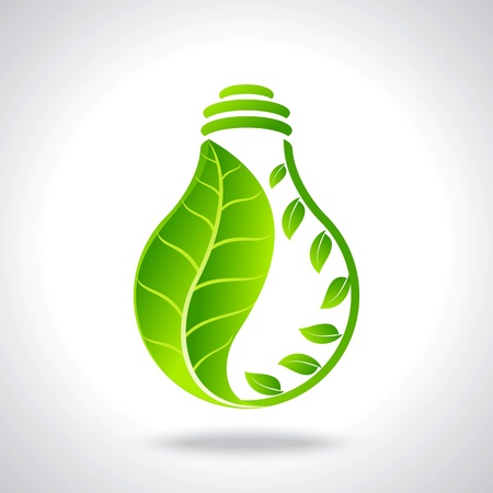 Illustration for green eco energy concept - Royalty Free Image