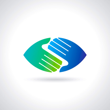 Illustration for Teamwork symbol  Multicolored hands - Royalty Free Image