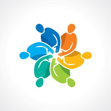 Ilustración de Vector togetherness concept illustration  - Imagen libre de derechos