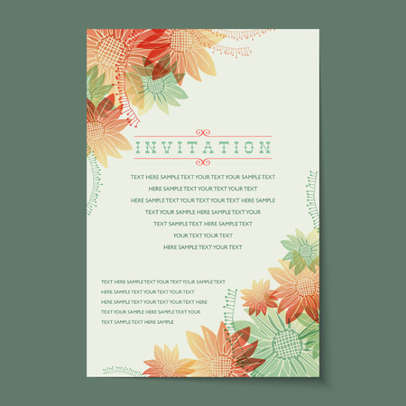 Illustration for Beautiful vintage invitation cards layouts. - Royalty Free Image