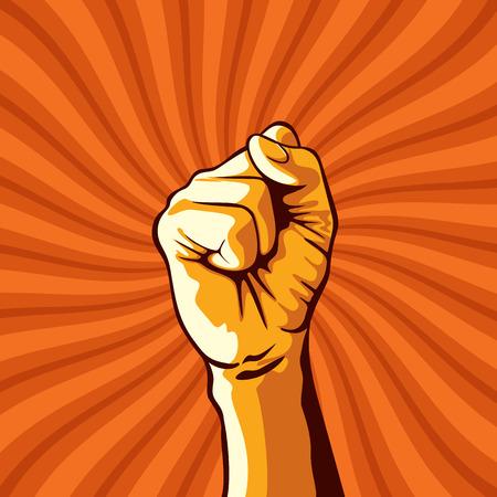 Illustration pour clenched fist held in protest illustration. - image libre de droit
