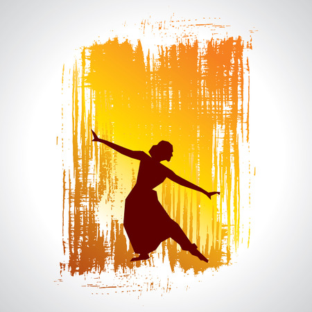 Illustration pour illustration of Indian classical dancer - image libre de droit