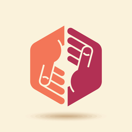 Illustration pour Vector Icon Teamwork concept - image libre de droit