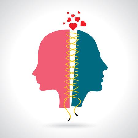 Foto de Concept Illustration for breakup - Imagen libre de derechos