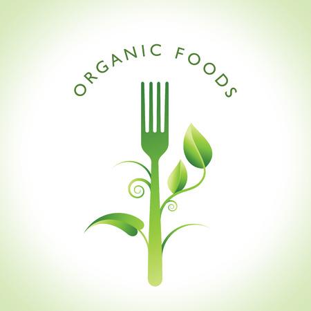 Ilustración de Organic food concept - Imagen libre de derechos