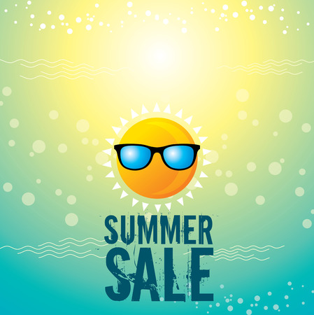 Illustration pour summer sale design template - image libre de droit