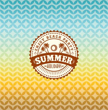 Illustration for Summer holidays illustration  summer  - Royalty Free Image