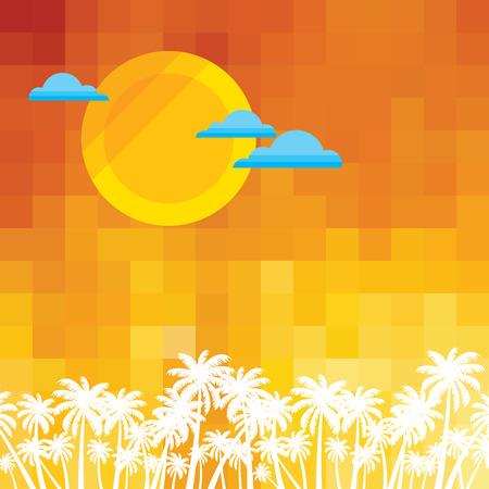 Illustration for Summer holidays illustration  summer background - Royalty Free Image