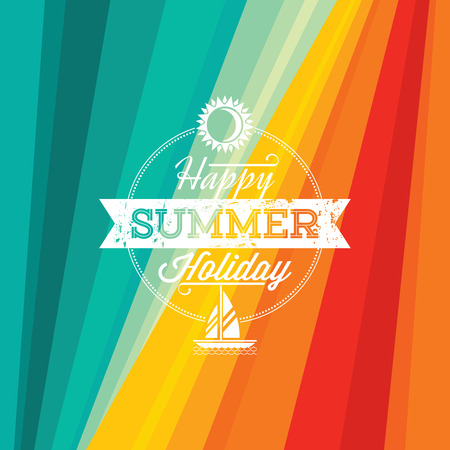 Foto de Summer holidays illustration  summer background - Imagen libre de derechos