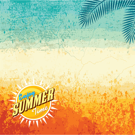 Photo for Summer holidays illustration  summer background - Royalty Free Image