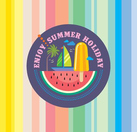 Ilustración de Summer holidays illustration  summer background - Imagen libre de derechos