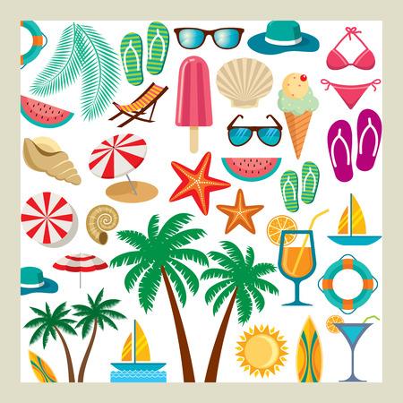 Ilustración de Summer icon set - Imagen libre de derechos