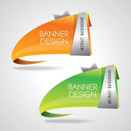 Illustration pour Colorful promotional banner design vector illustration - image libre de droit