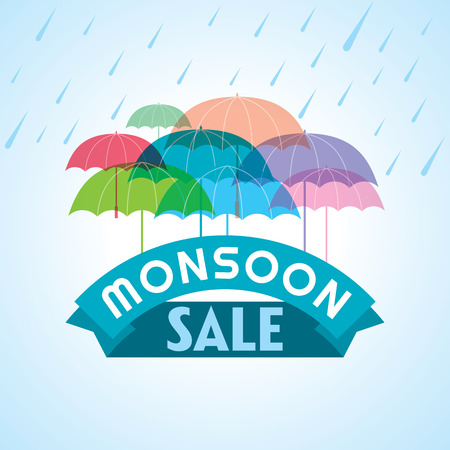 Monsoon offer and sale banner offer or poster.