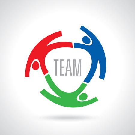 Ilustración de Concept of communityworkersunitysocial networking icon image template. Teamwork vector - Imagen libre de derechos