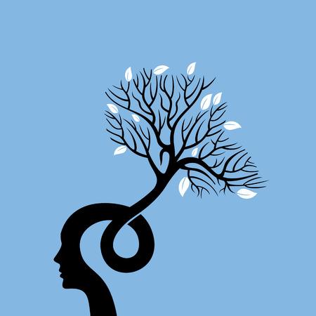 Illustration pour Vector Illustration think green save earth - image libre de droit
