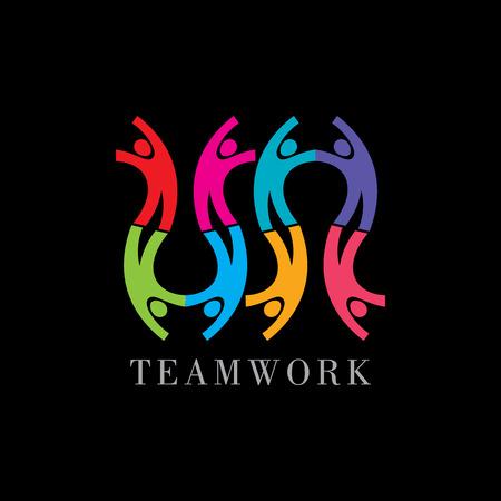 Illustration pour Concept of communityworkersunitysocial networking icon image template. Teamwork vector - image libre de droit