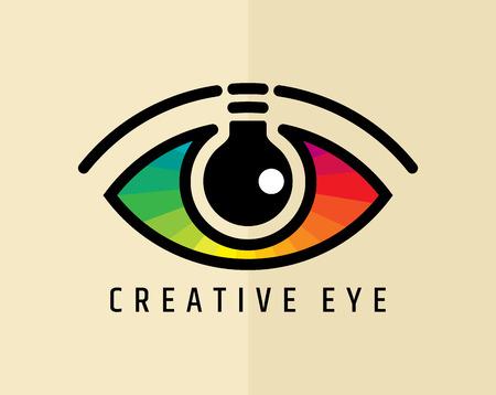 Illustration pour Creative Eye, Concept vector - image libre de droit