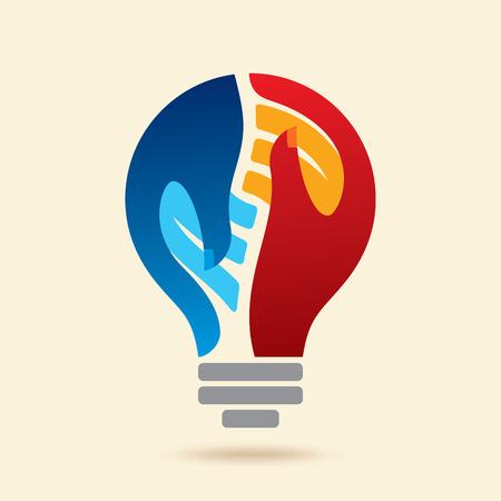 Ilustración de creative teamwork idea concept - Imagen libre de derechos