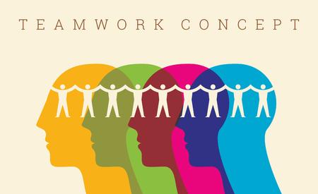 Foto de Teamwork People, Holding hands. Design for teamwork concept illustration - Imagen libre de derechos